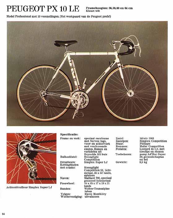 Question Peugeot PX10 1974PX10LE